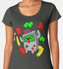 Tetris and Game Boy grey Women's Premium T-Shirt
