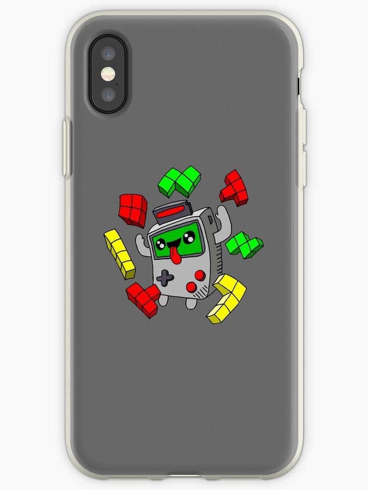 'Tetris and Game Boy grey' iPhone Case by cucuvaya
