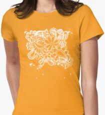 splatter flowers  Womens Fitted T-Shirt