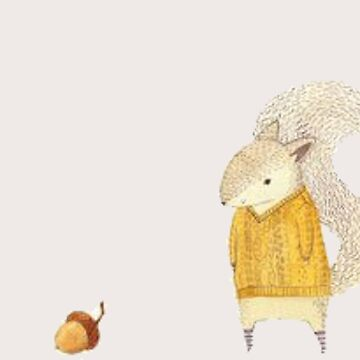 Yellow squirrel with sweater by Kaylaya