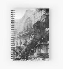 Train wreck Spiral Notebook
