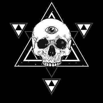 Hexagram Third Eye Skull by sakharoth