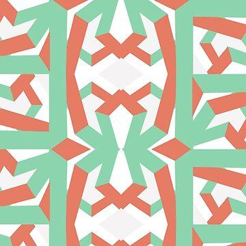 Modern and geometric pattern design by soycarola