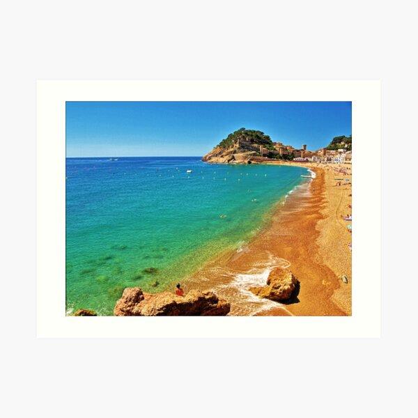 Tossa Beach - Tossa de Mar, Spain Art Print