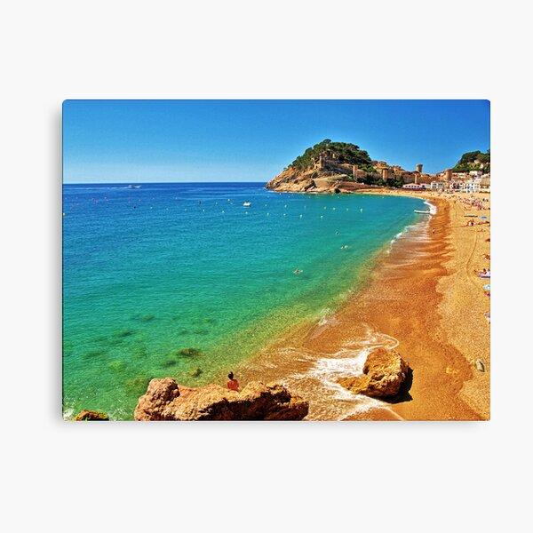 Tossa Beach - Tossa de Mar, Spain Canvas Print