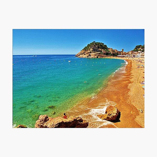 Tossa Beach - Tossa de Mar, Spain Photographic Print