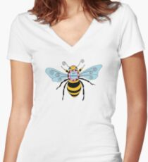 Bee Yourself Women's Fitted V-Neck T-Shirt