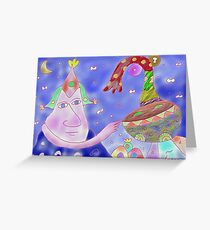 """""""Good Heavens""""-Children Colorful Fantasy Stories Greeting Card"""