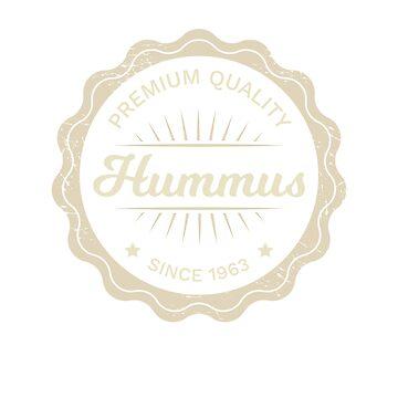 Hummus Logo - Vintage Vegetarian by RaveRebel