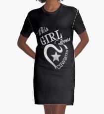 This Girl Loves Cowboys Dallas Texas Design 8 Graphic T-Shirt Dress