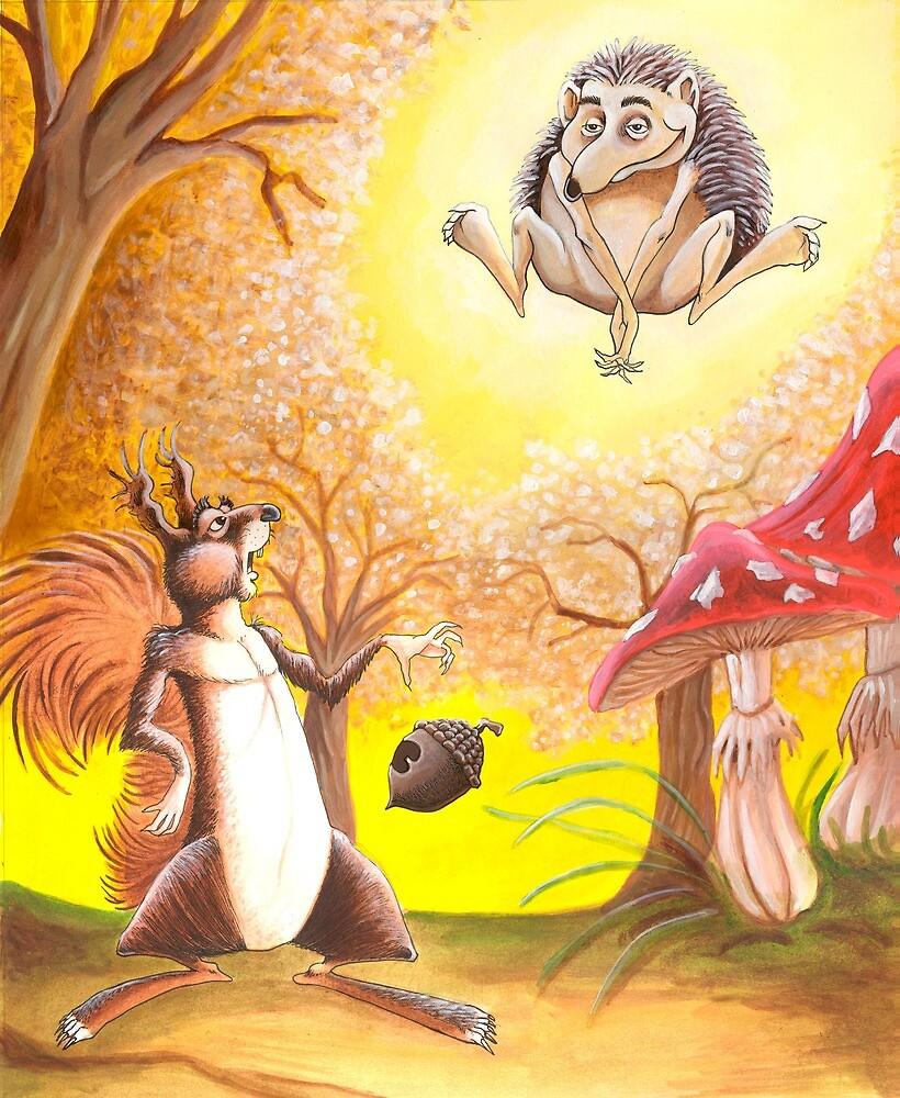 Squirrel and Hedgehog by Stijn Van Elst