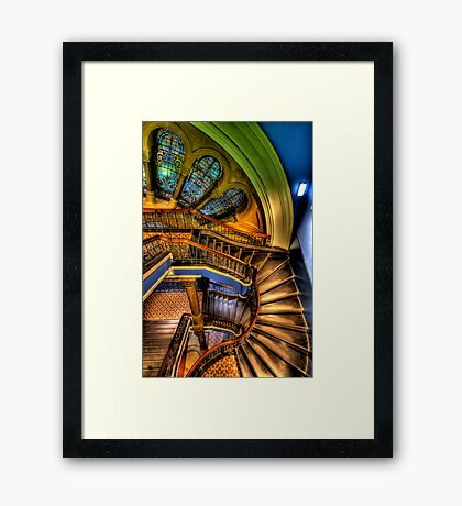 The Grand Staircase - QVB - The HDR Experience Framed Print