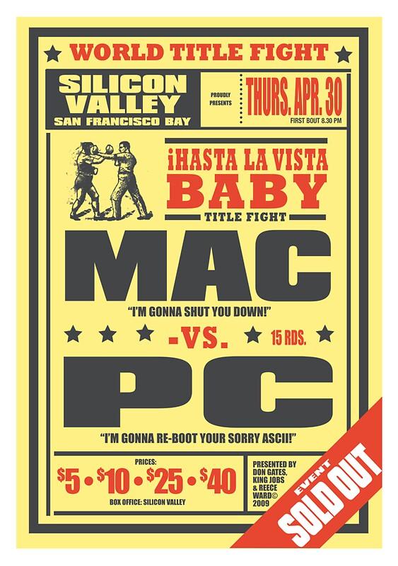 mac vs pc posters by reece ward redbubble mac vs pc by reece ward