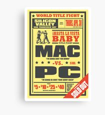Mac vs. PC Canvas Print