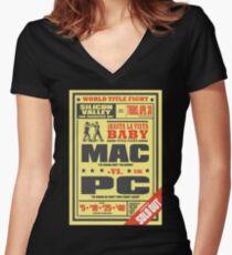 Mac vs. PC Women's Fitted V-Neck T-Shirt