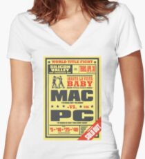 Mac vs. PC Women's Fitted V-Neck T-Shirt