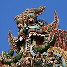 Mythical Creature, Hindu Temple Sculpture, Madurai, South India by Jane McDougall