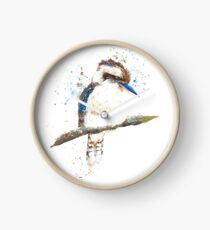 Watercolour Kookaburra Clock
