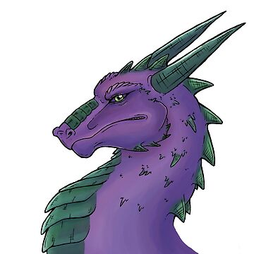 Purple Dragon Bust by Anuviel