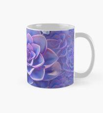 """Taza clásica """"Ramo de suculentas exóticas color violeta pastel"""""""