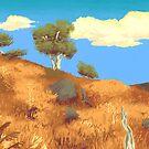 Australian Bush Landscape by Astyrra