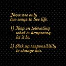 There are only... Life Inspirational Quote (Sq.) by Powerofwordss
