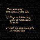 Es gibt nur ... Life Inspirational Quote (Sq.) von Powerofwordss