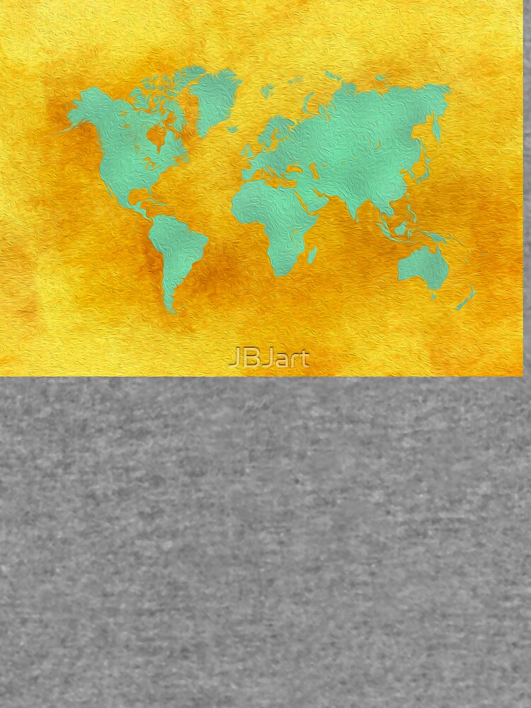 world map gold green #worldmap #map by JBJart