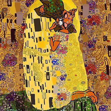 Kiss Klimt Cats by notsniwart