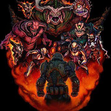 Fight like Hell 2 T-Shirt by rubenlopezart