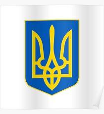 Coat of Arms of Ukraine Poster