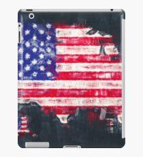 United States of America map artwork painting illustration iPad Case/Skin