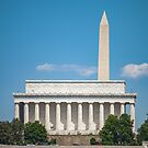 Lincoln Memorial and Washington Monument by PixLifePhoto