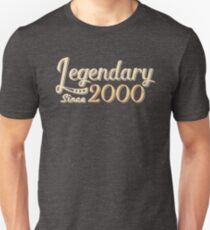 Legendary Since 2000 18th Birthday Unisex T-Shirt