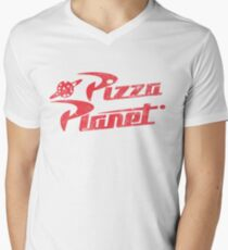 Pizza Planet Men's V-Neck T-Shirt