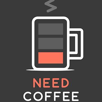 Battery Low Need Coffee by zoljo