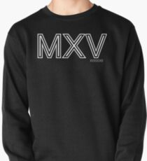 Momentum: Mass X Velocity [MXV] Outline [White Ink] Pullover