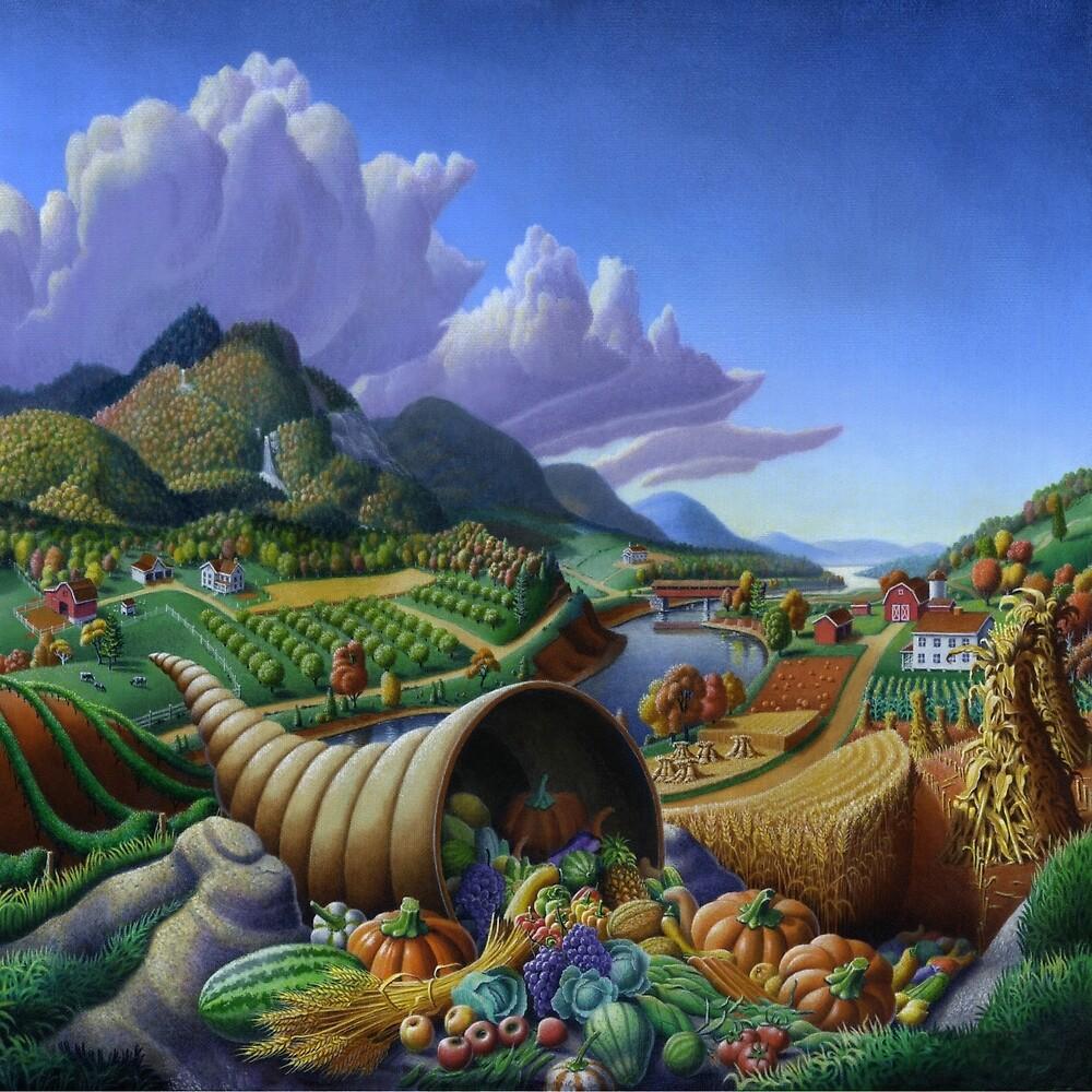 Horn Of Plenty - Cornucopia  by Walt Curlee