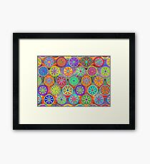 Cogflower Time Pattern by Lierre Kandel Framed Print