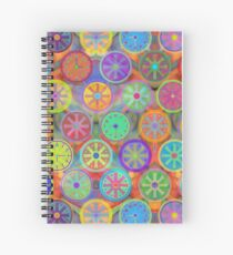 Cogflower Time Pattern by Lierre Kandel Spiral Notebook
