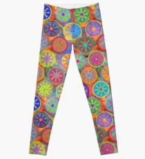 Cogflower Time Pattern by Lierre Kandel Leggings