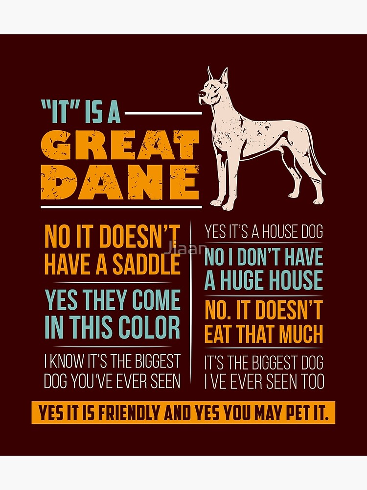 Great Dane - Funny answers to annoying questions | Poster
