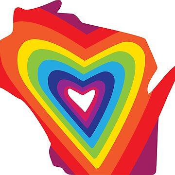 Wisconsin Love Radiates Rainbows (and Unicorns?) by gstrehlow2011