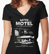 Bates Motel - Open 24 hours Women's Fitted V-Neck T-Shirt