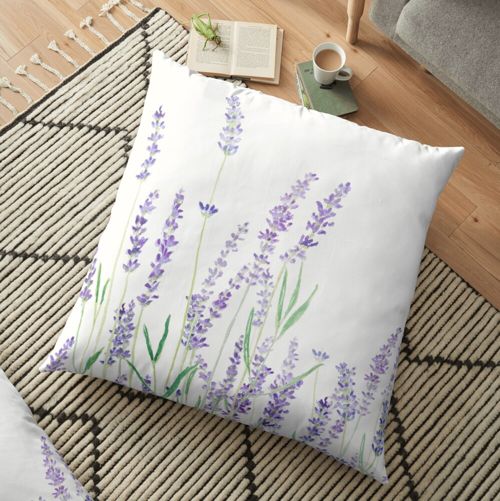purple lavender  Floor Pillow