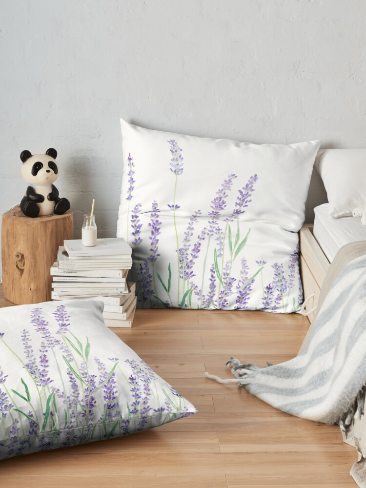 Alternate view of purple lavender  Floor Pillow