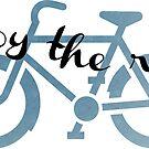 Enjoy the Ride - bicycle sticker  by Sam Palahnuk