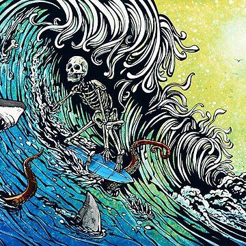 Skeleton Surfer by andreyusachov