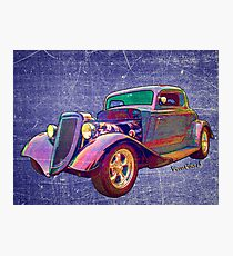 Ford Street Rod 1934 Art as Found in the Belly of a Whale Photographic Print