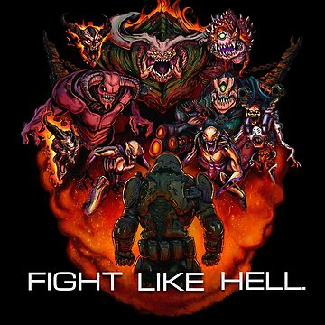 FIGHT LIKE HELL by rubenlopezart